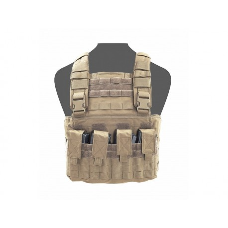 WARRIOR ASSAULT SYSTEM GLADIATOR Chest Rig Coyote Tan (Front)