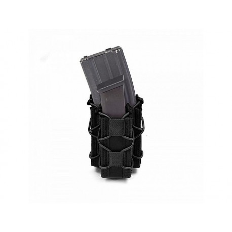 WARRIOR ASSAULT SYSTEM Single Quick Mag with Single Pistol Pouch Black