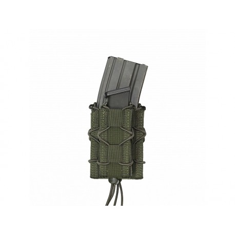 WARRIOR ASSAULT SYSTEM Single Quick Mag with Single Pistol Pouch OD Green