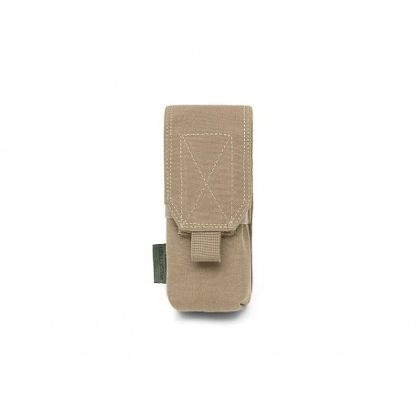 WARRIOR ASSAULT SYSTEM Single M4 5.56mm Mag Pouch – 2 Mags Coyote Tan