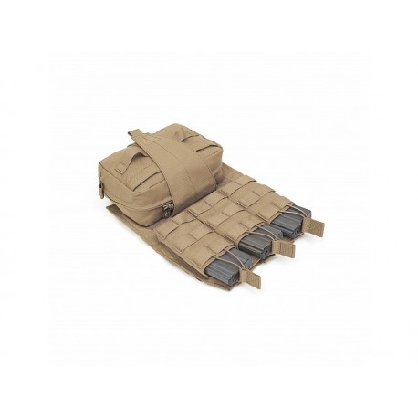 WARRIOR ASSAULT SYSTEM Back Panel with Med Pouch And Triple M4 5.56 Coyote Tan