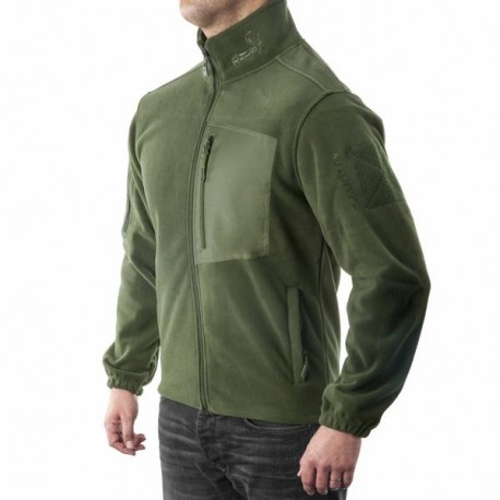 AGILITE WIND WARRIOR FLEECE JACKET OD GREEN XL