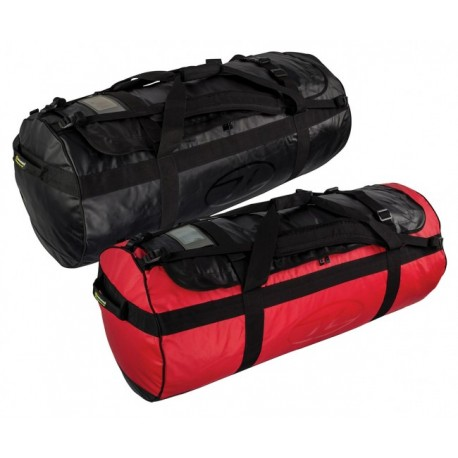 HIGHLANDER OUTDOOR LOMOND TARPAULIN DUFFLE BAG 120 LITRE BLACK
