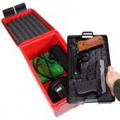 MTM HANDGUN CONCEALED CARRY CASE RED