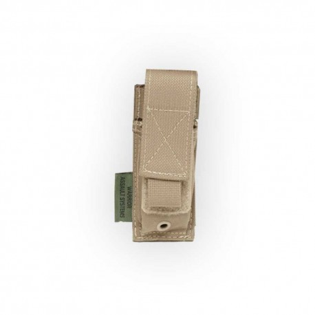 WARRIOR ASSAULT SYSTEM Elite Ops Single Pistol Pouch 9mm Coyote Tan