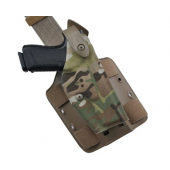 SAFARILAND 6004 Low Signature Glock 17/22 Cordura Multicam RH